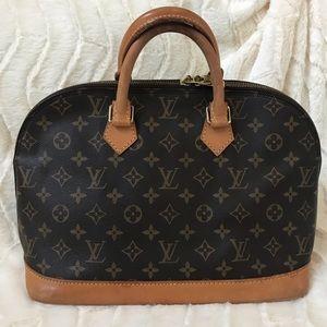 Authentic Louis Vuitton Alma Monogram Handbag